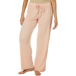 Womens Solid Textured Pajama Pants