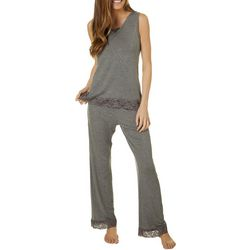Kathy Ireland Womens Lightweight Heathered Pajama Lounge Set