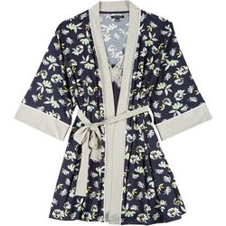 Nanette Lepore Womens 2-pc. Floral Robe & Chemise Set
