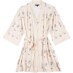Nanette Lepore Womens 2-pc. Floral Print Robe & Chemise Set