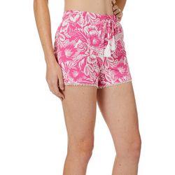 Tackle & Tides Womens Floral Pom Pom Pajama Shorts