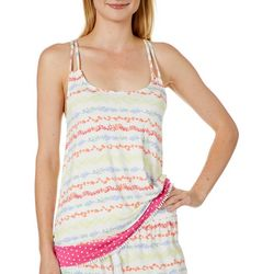 Tackle & Tides Womens Seaweed Stripe Pajama Tank Top