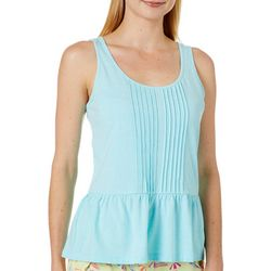 Tackle & Tides Womens Peplum Pajama Tank Top
