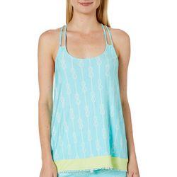 Tackle & Tides Womens Knotty Strap Pajama Tank Top