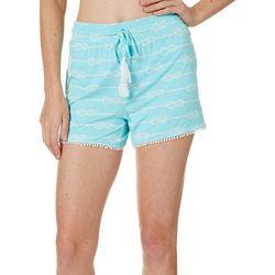 Tackle & Tides Womens Knotty Pom Pom Pajama Top