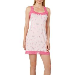 Tackle & Tides Womens Flamingo Lace Trim Nightgown