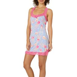 Tackle & Tides Womens Jelly Bean Lace Trim Nightgown