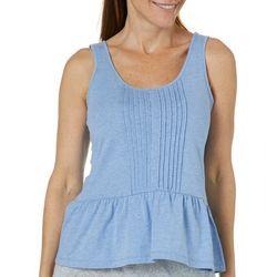 Tackle & Tides Womens Peplum Pajama Tank Top