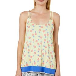 Tackle & Tides Womens Pineapple Print Pajama Tank Top