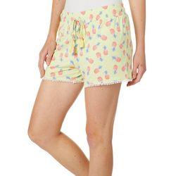 Tackle & Tides Womens Colada Pom Pom Pajama Shorts