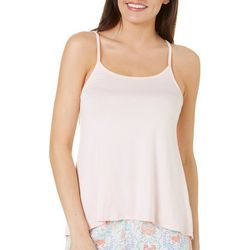 Tackle & Tides Womens Solid Swing Lace Pajama Tank Top