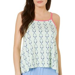 Tackle & Tides Womens Paddles Swing Lace Pajama Tank Top