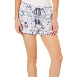 Tackle & Tides Womens Floral Ruffle Bottom Pajama Shorts