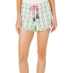 Tackle & Tides Womens Paddles Ruffle Bottom Pajama Shorts