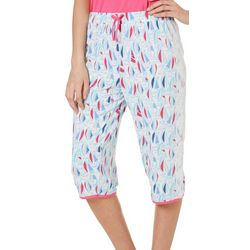 Tackle & Tides Womens Sailboat Faux Drawstring Pajama Capris