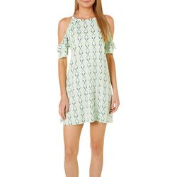 Tackle & Tides Womens Paddles Ruffle Leisure Dress