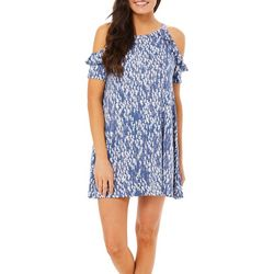 Tackle & Tides Womens Seahorse Ruffle Leisure Dress