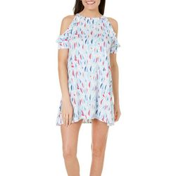 Tackle & Tides Womens Sailboat Ruffle Leisure Dress