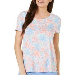 Tackle & Tides Womens Paradise Palms Bow Back Pajama T-Shirt