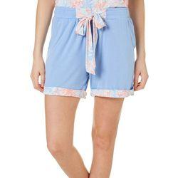 Tackle & Tides Womens Floral Bow Pajama Shorts