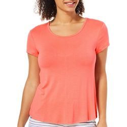 Tackle & Tides Womens Solid Bow Back Pajama T-shirt