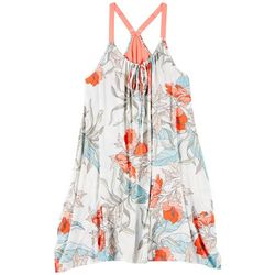 Womens Tropical Floral Chemise Nightgown