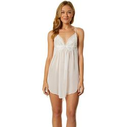 Linea Donatella Womens Embellished Sheer Nightgown