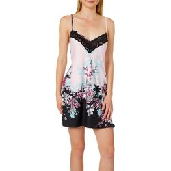 Linea Donatella Womens Lucinda Floral Chemise Nightgown