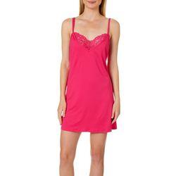 Linea Donatella Womens Solid Open Back Chemise Nightgown