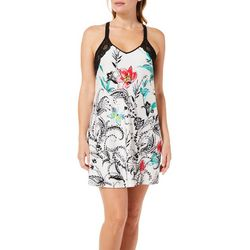 Linea Donatella Womens Tropical Floral Print Nightgown