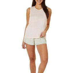 Womens Polka Stripe Dot Pajama Shorts Set