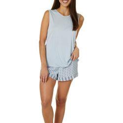 Womens Polka Dot Pajama Shorts Set