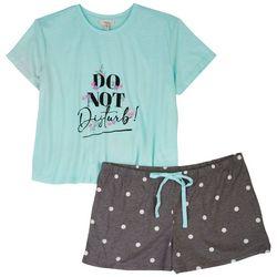 Como Blu Womens 2-Pc. Polka Dot Pajama Shorts
