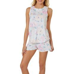 Juniors Floral Pajama Shorts Set