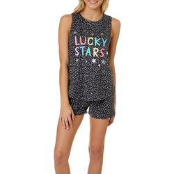 Juniors Lucky Stars Pajama Shorts Set