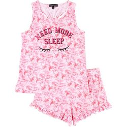 Juniors Need More Sleep Pajama Shorts Set