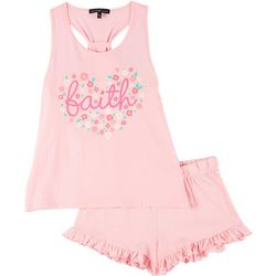 Juniors Faith Pajama Shorts Set
