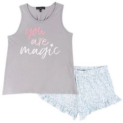 Derek Heart Juniors You Are Magic Pajama Shorts Set