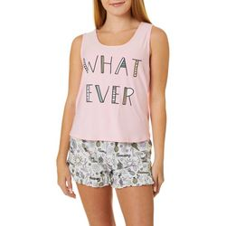 Juniors Whatever Pajama Shorts Set