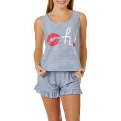Derek Heart Juniors Oh! Pajama Shorts Set