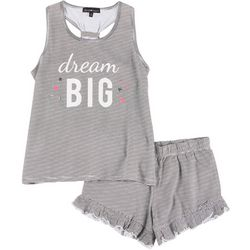 Derek Heart Juniors Drema Big Pajama Shorts Set