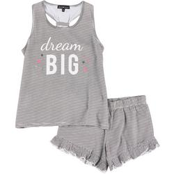 Juniors Drema Big Pajama Shorts Set