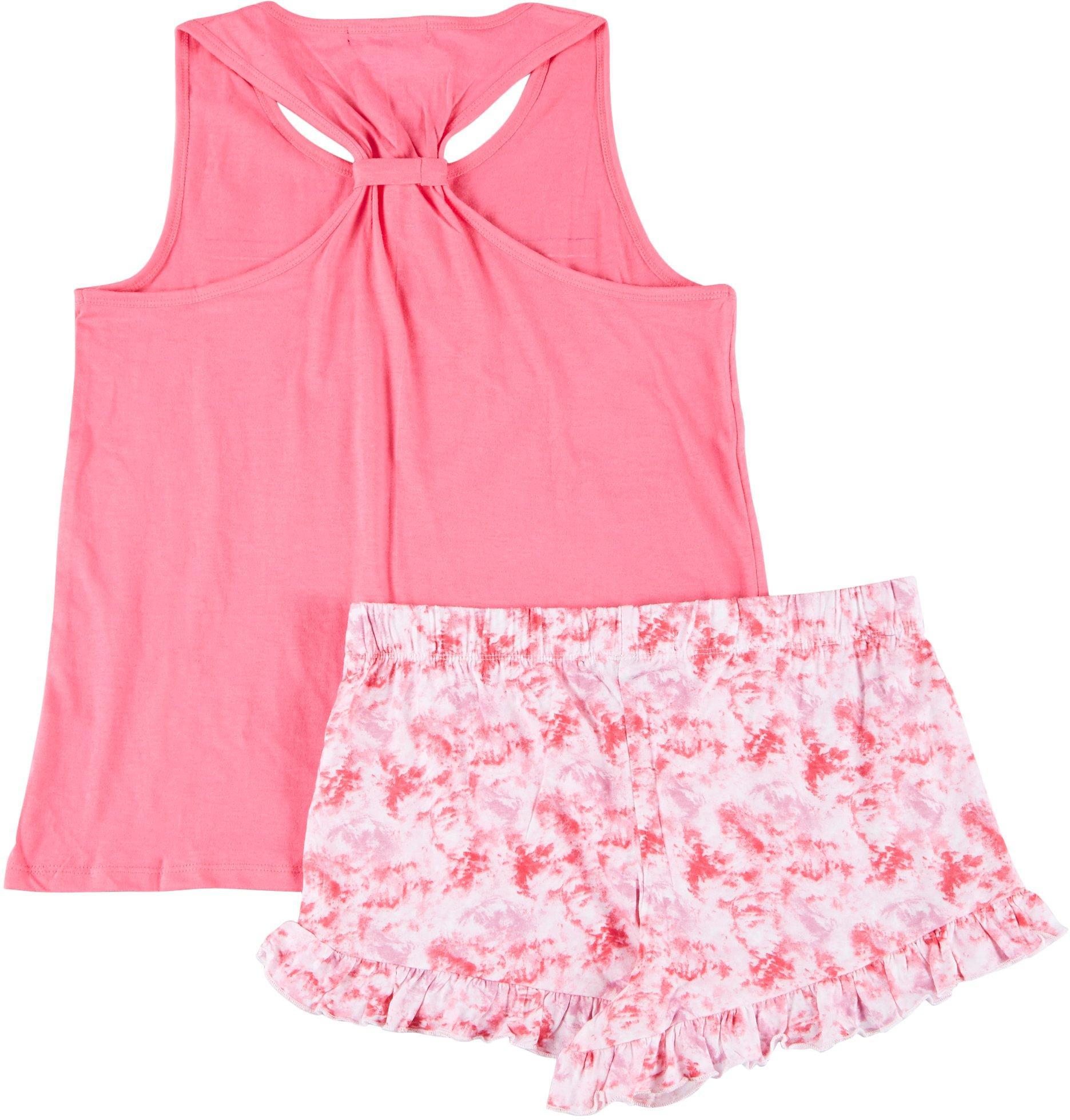 Derek Heart Juniors 2-Pc Tie Dye Pajama Set