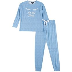 Derek Heart Juniors Let Me Sleep Jogger Pajama Set