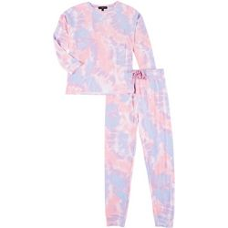 Derek Heart Juniors 2-Pc. Tie Dye Pajama Set
