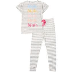 Juniors Blah Blah Blah Jogger Pajama Set