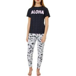 Juniors Aloha Jogger Pajama Set