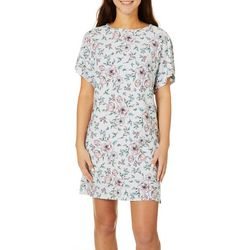Jaclyn Intimates Womens Floral  T-Shirt Nightgown