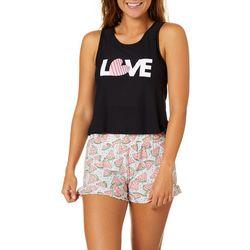 Jaclyn Intimates Womens Love Watermelon Pajama Shorts Set