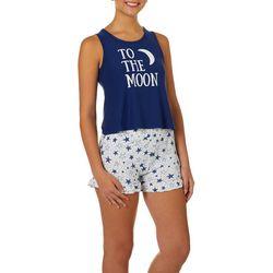 Jaclyn Intimates Womens To The Moon Pajama Shorts Set